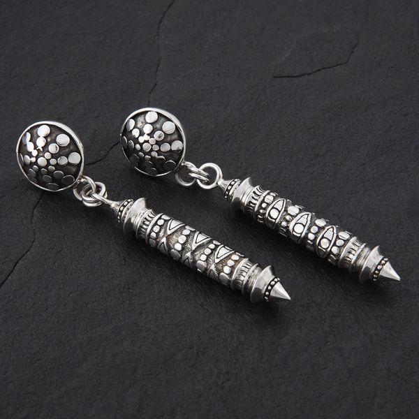 01. Geo-001 - Sterling Silver Post Earrings