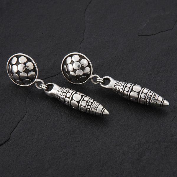02. Geo-002 - Sterling Silver Post Earrings