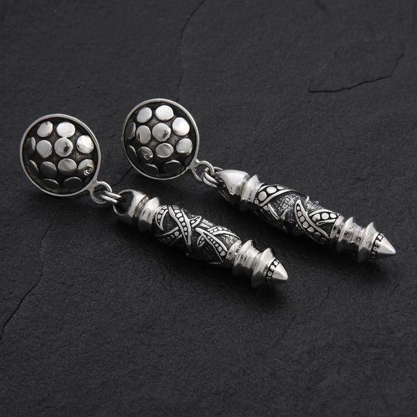 03. Geo-003 - Sterling Silver Post Earrings