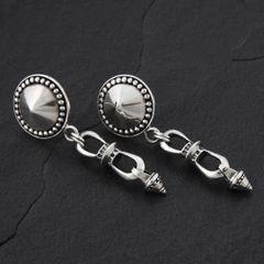 08. Geo-008 - Sterling Silver Post Earrings
