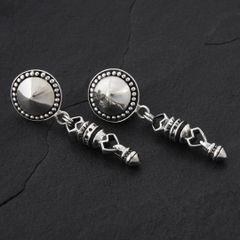 09. Geo-009 - Sterling Silver Post Earrings