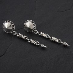 10. Geo-010 - Sterling Silver Post Earrings
