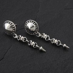 11. Geo-011 - Sterling Silver Post Earrings