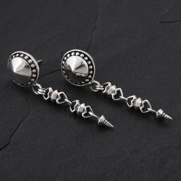 11. Geo-011 - Sterling Silver Post Earrings