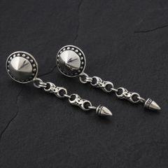 12. Geo-012 - Sterling Silver Post Earrings