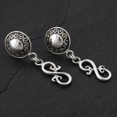 15. Geo-015 - Sterling Silver Post Earrings