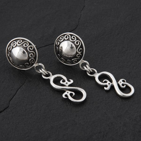 15. Geo-015 - Sterling Silver Post Earrings