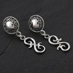 16. Geo-016 - Sterling Silver Post Earrings