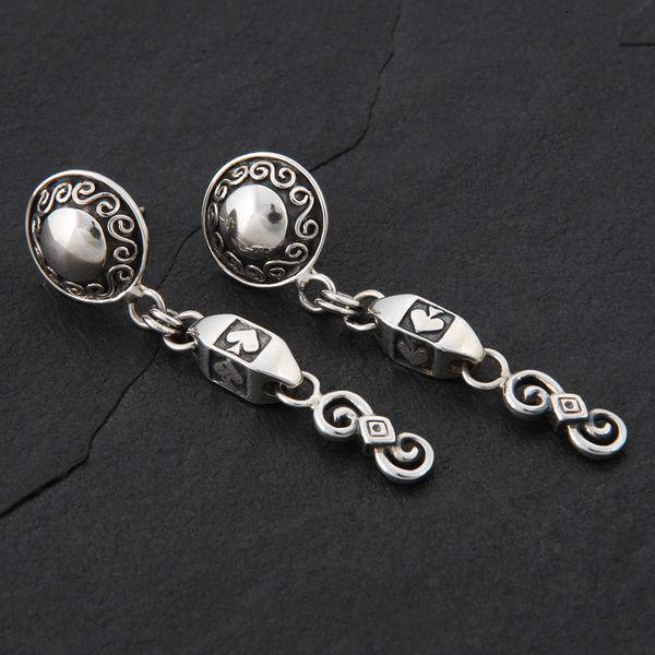 19. Ace of Spades - Sterling Silver Post Earrings