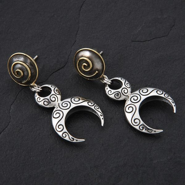 26. Goddess - Sterling Silver & 24K Gold Plated Post Earrings