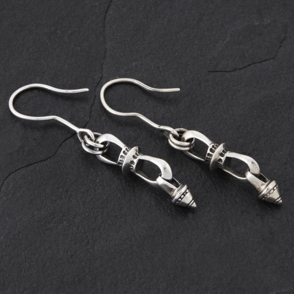 08. Geo-008 - Sterling Silver Drop Earrings