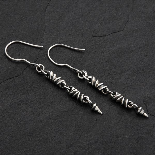 10. Geo-010 - Sterling Silver Drop Earrings
