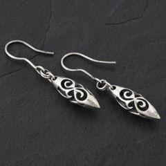13. Geo-013 - Sterling Silver Drop Earrings