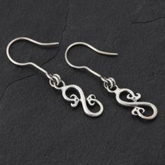 15. Geo-015 - Sterling Silver Drop Earrings