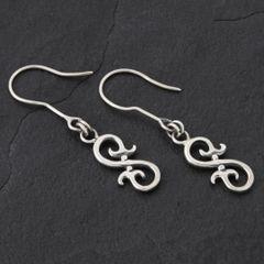 16. Geo-016 - Sterling Silver Drop Earrings