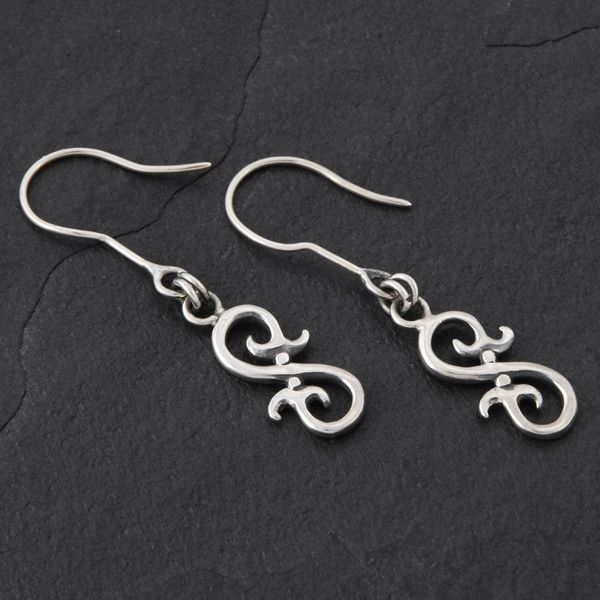 16. Geo-016 - Sterling Silver Drop Earrings