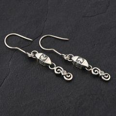 19. Ace of Spades - Sterling Silver Drop Earrings