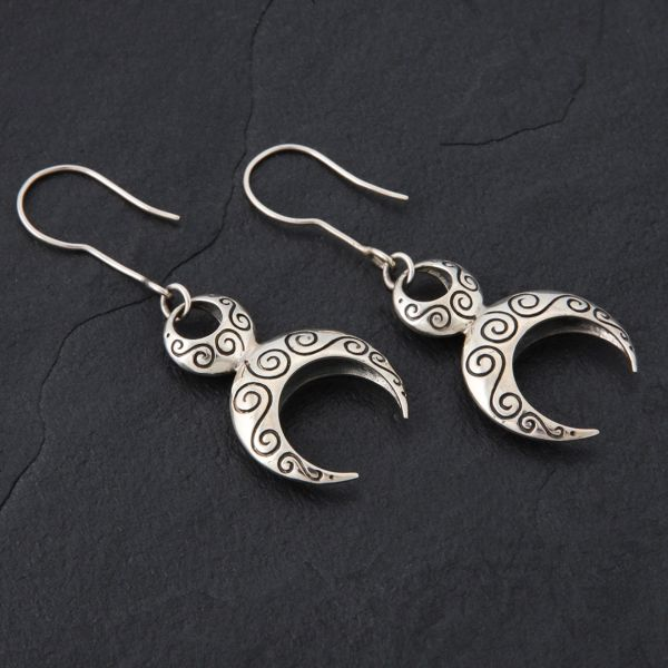 26. Goddess - Sterling Silver Drop Earrings