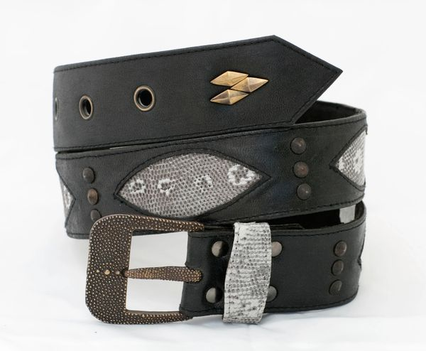 Lizard - Leather Belt - 1B