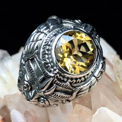 61. Garuda - Citrine Sterling Silver Ring