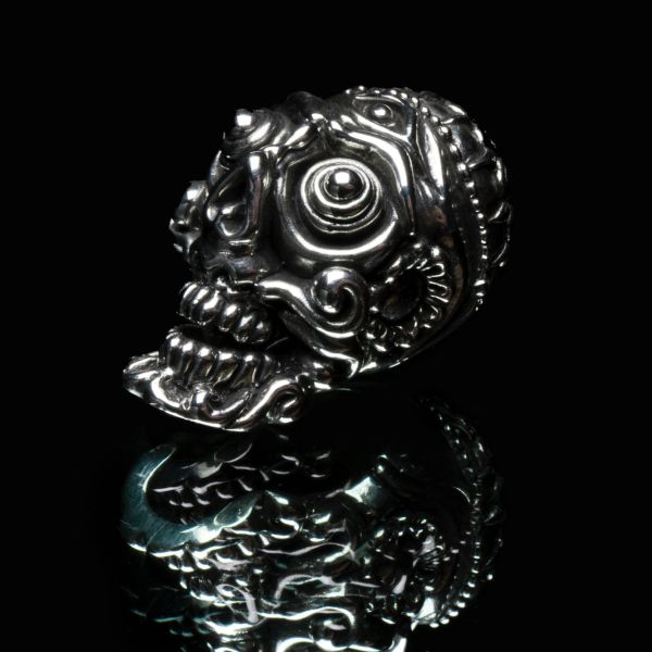 56. Tibetan Skull - Sterling Silver Pendant