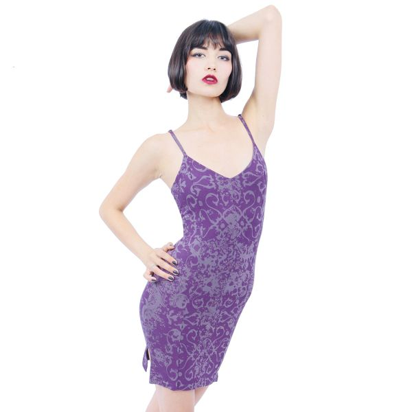 Dress 11 - Purple Dragon Spaghetti-Strap Mini Dress