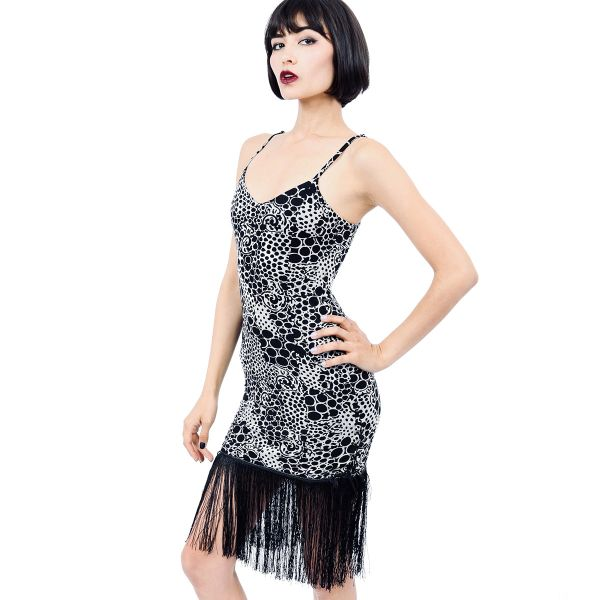 Dress 11R - Dragon Skin Fringe Dress