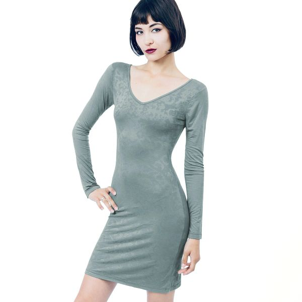 Dress 05 - Grey Dragon Long Sleeve Dress