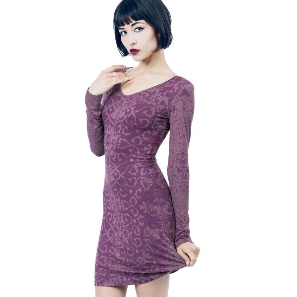 Dress 05 - Purple Dragon Long Sleeve Dress