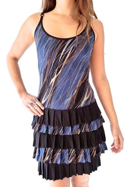 Dress 08 - Ocean Rain Ruffle Dress