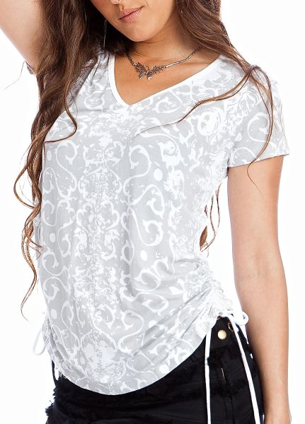 Destiny Top Short Sleeves - White Dragon