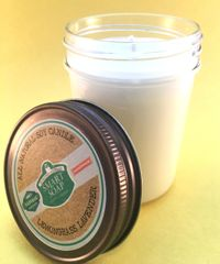 Soy Wax Candle with Essential Oils (8 oz)