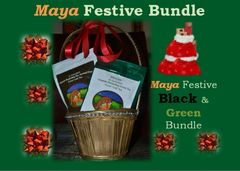 Maya Festive Black & Green Bundle-Maya of Australia 2nd Flush Organic Darjeeling Black Tea (1 x 100 g= 100g)+Maya of Australia Organic Darjeeling Green Tea (2 x 50 g)