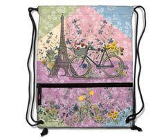 Paris Trip Drawstring Backpack