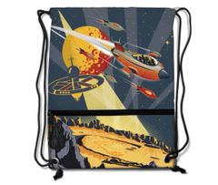 Travel to Mars Drawstring Backpack