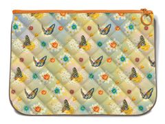 Butterfly Pattern Quilted Handy Pouch