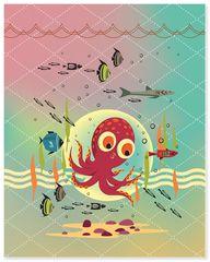 Octopus - Art Print