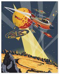 Travel to Mars - Art Print