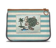 Sea Turtle - Canvas Small Zipper Pouch