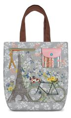 Paris Trip - Embroidery Canvas Shoulder Tote