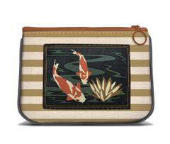 Pond Flower - Canvas Small Zipper Pouch