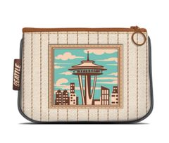 Seattle - Canvas Small Zipper Pouch