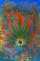 Cannabis Leaf Canvas Print by Mohan 2