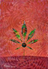 Cannabis Leaf Canvas Print by Mohan 5