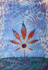 Cannabis Leaf Canvas Print by Mohan 6