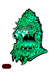 TROG- Nug Monster GLOW IN THE DARK