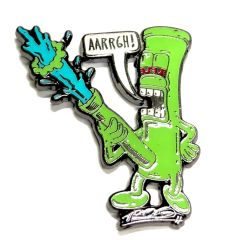 TROG-AARRGH! Bong Pin Green GLOW IN THE DARK!