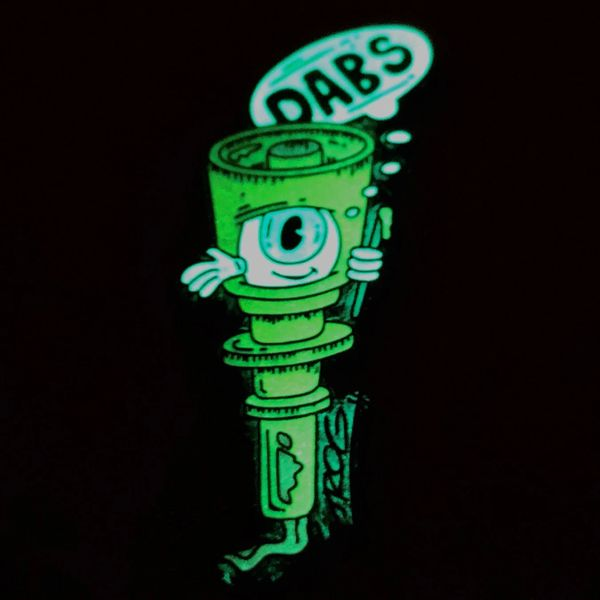 TROG Dabs Yellow GLOW IN THE DARK