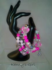 Hot Pink Sensation Awarness Bracelet