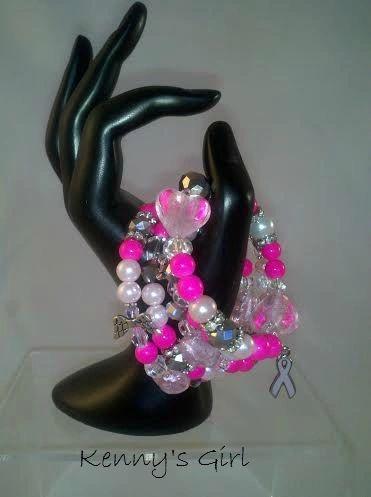 Hot Pink Sensation Awarness Bracelet
